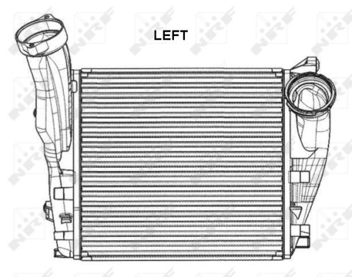 Intercooler radiateur de turbo NRF 30286 (X1)