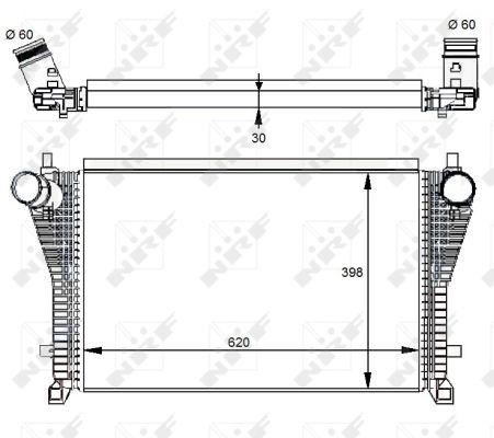 Intercooler radiateur de turbo NRF 30291 (X1)