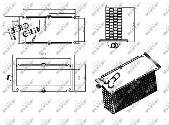 Intercooler radiateur de turbo NRF 30292 (X1)