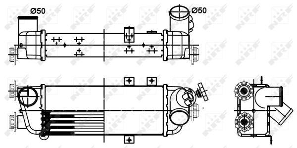 Intercooler radiateur de turbo NRF 30305 (X1)