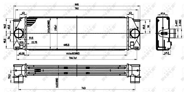 Intercooler radiateur de turbo NRF 30310 (X1)