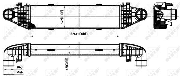 Intercooler radiateur de turbo NRF 30315 (X1)