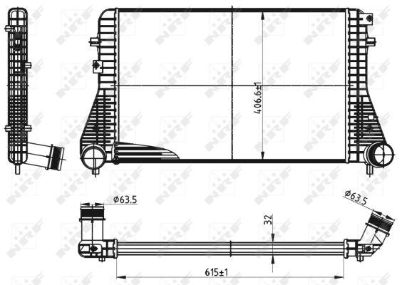 Intercooler radiateur de turbo NRF 30316 (X1)