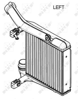 Intercooler radiateur de turbo NRF 30349 (X1)