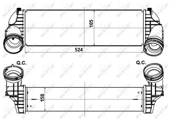 Intercooler radiateur de turbo NRF 30359 (X1)