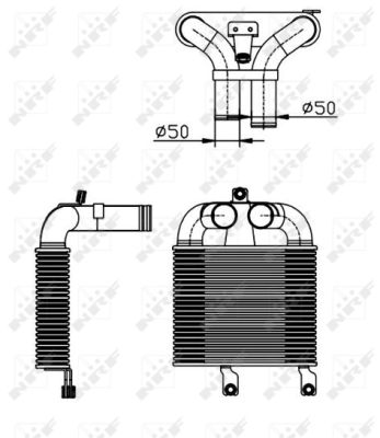 Intercooler radiateur de turbo NRF 30365 (X1)