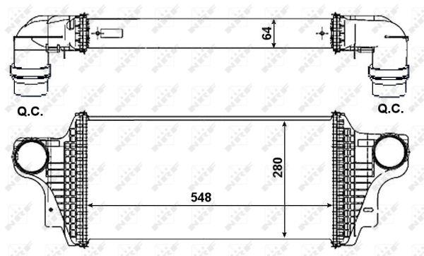 Intercooler radiateur de turbo NRF 30370 (X1)