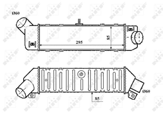 Intercooler radiateur de turbo NRF 30413 (X1)