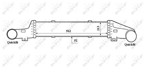 Intercooler radiateur de turbo NRF 30420 (X1)