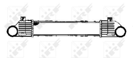 Intercooler radiateur de turbo NRF 30422 (X1)