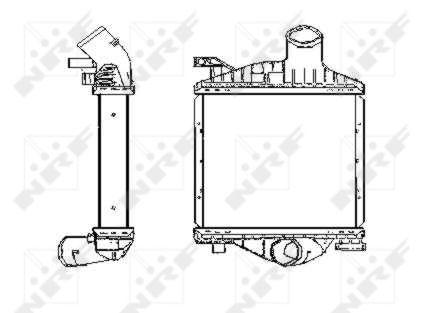 Intercooler radiateur de turbo NRF 30423 (X1)