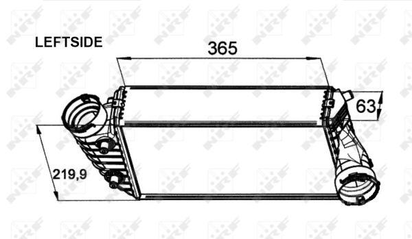 Intercooler radiateur de turbo NRF 30442 (X1)