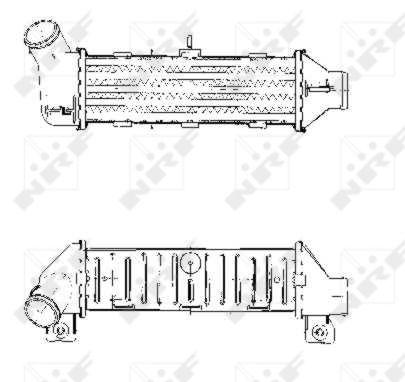 Intercooler radiateur de turbo NRF 30444 (X1)
