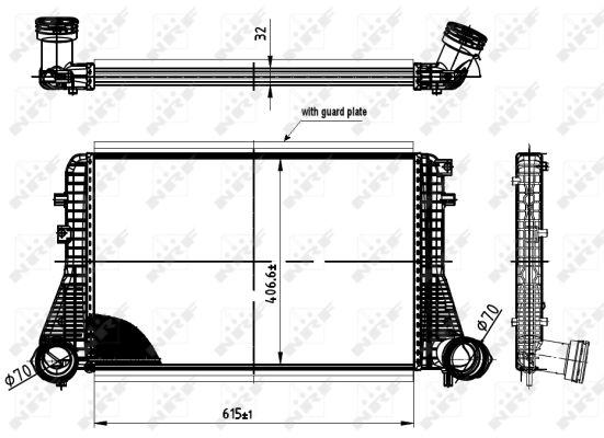 Intercooler radiateur de turbo NRF 30454 (X1)