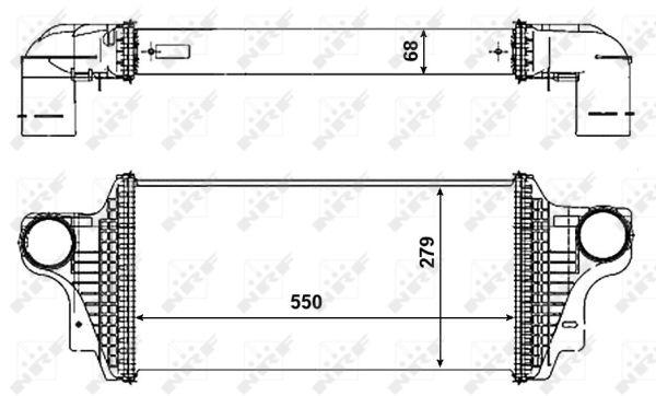 Intercooler radiateur de turbo NRF 30465 (X1)