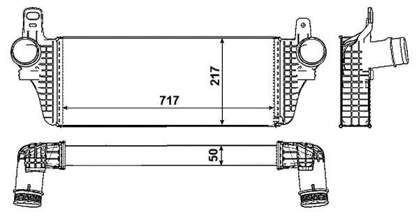 Intercooler radiateur de turbo NRF 30466 (X1)