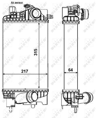 Intercooler radiateur de turbo NRF 30469 (X1)