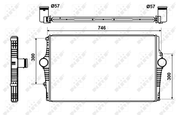 Intercooler radiateur de turbo NRF 30501 (X1)