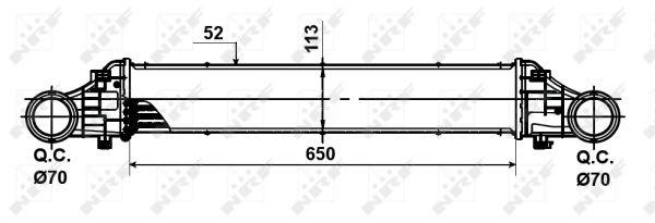 Intercooler radiateur de turbo NRF 30509 (X1)