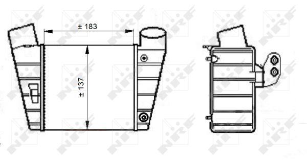 Intercooler radiateur de turbo NRF 30544 (X1)