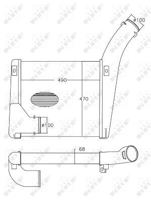 Intercooler radiateur de turbo NRF 30551 (X1)