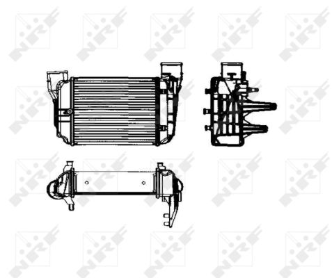 Intercooler radiateur de turbo NRF 30753 (X1)