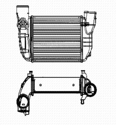 Intercooler radiateur de turbo NRF 30756 (X1)