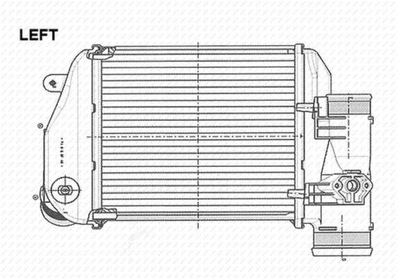 Intercooler radiateur de turbo NRF 30767 (X1)