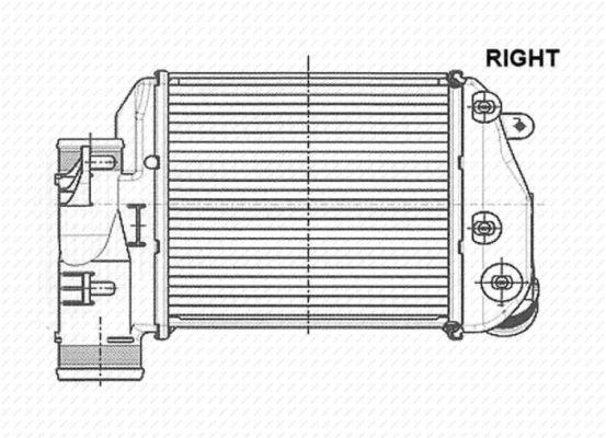 Intercooler radiateur de turbo NRF 30768 (X1)