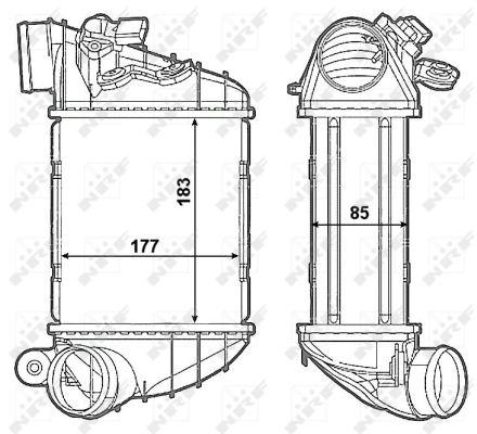 Intercooler radiateur de turbo NRF 30799 (X1)