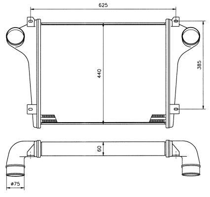 Intercooler radiateur de turbo NRF 30811 (X1)