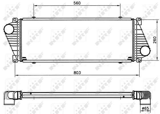 Intercooler radiateur de turbo NRF 30830 (X1)