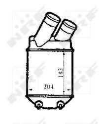 Intercooler radiateur de turbo NRF 30832 (X1)