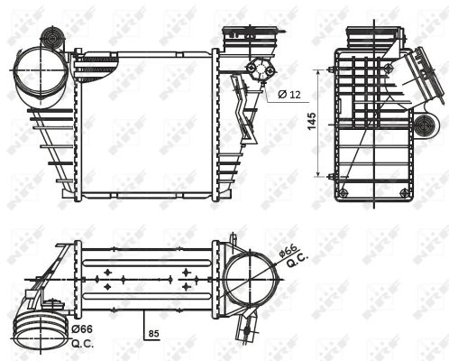 Intercooler radiateur de turbo NRF 30838 (X1)