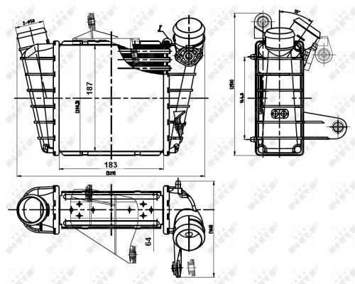 Intercooler radiateur de turbo NRF 30842 (X1)