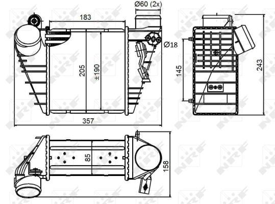 Intercooler radiateur de turbo NRF 30847 (X1)
