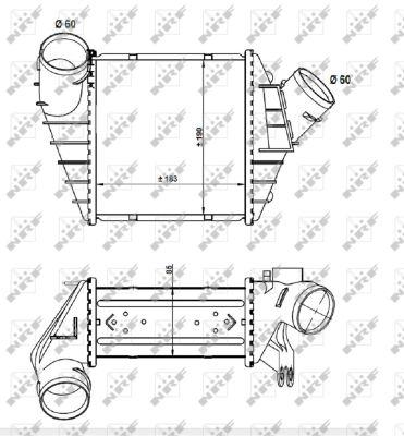 Intercooler radiateur de turbo NRF 30848 (X1)