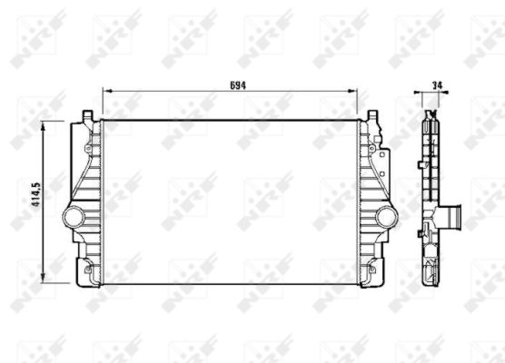 Intercooler radiateur de turbo NRF 30873 (X1)