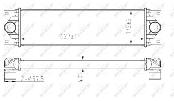Intercooler radiateur de turbo NRF 30874 (X1)