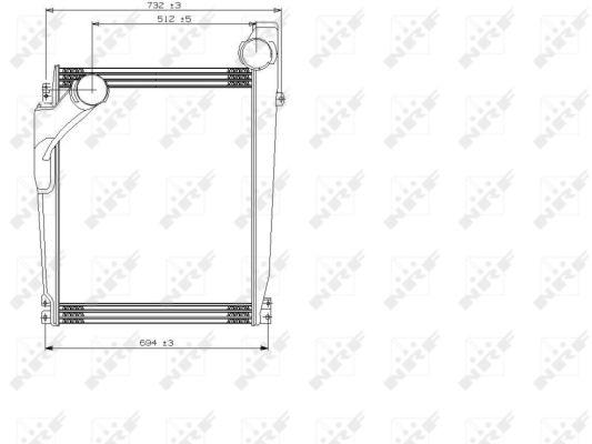 Intercooler radiateur de turbo NRF 309006 (X1)