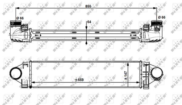 Intercooler radiateur de turbo NRF 30912 (X1)