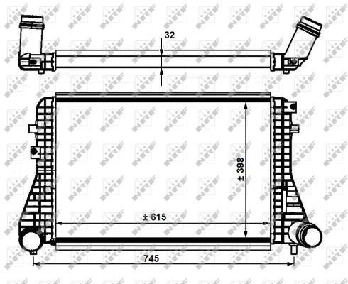 Intercooler radiateur de turbo NRF 30915 (X1)