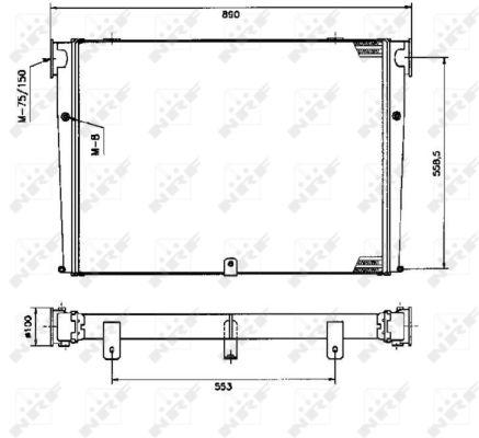 Intercooler radiateur de turbo NRF 309345 (X1)