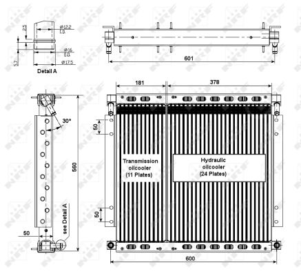 Radiateur huile NRF 31185 (X1)