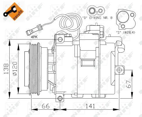Compresseur NRF 32104 (X1)