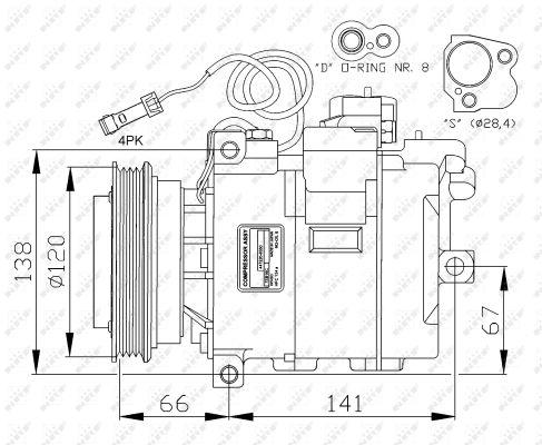 Compresseur NRF 32104G (X1)