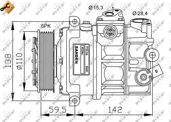 Compresseur NRF 32147G (X1)
