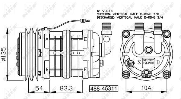 Compresseur NRF 32154G (X1)