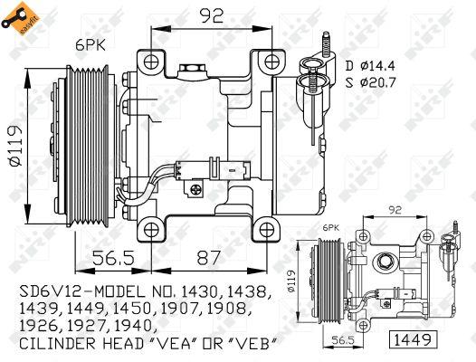 Compresseur NRF 32227 (X1)