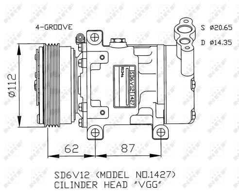Compresseur NRF 32253G (X1)